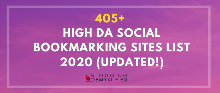 High DA Social Bookmarking Sites List 2020