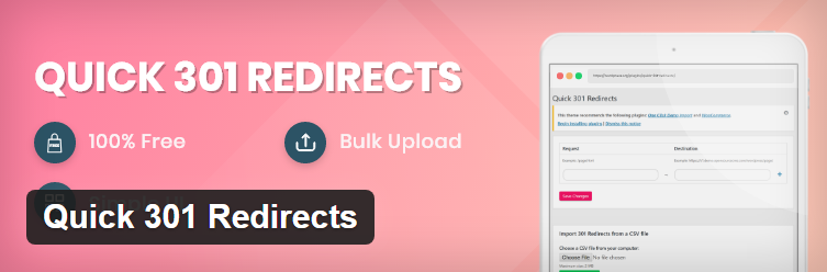 Quick-301-Redirects wordpress redirect plugin