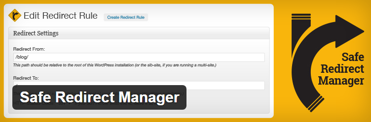 Safe-Redirect-Manager wordpress redirect plugin